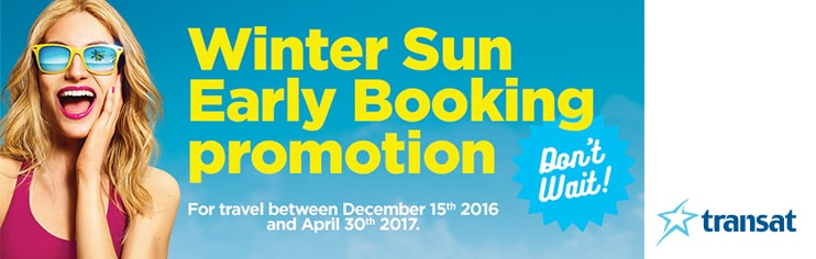 Early booking bonuses with $100* deposit!