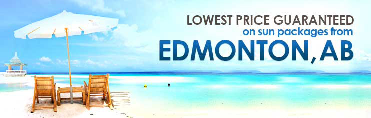 Lowest price guaranteed on sun packages from Edmonton, AB