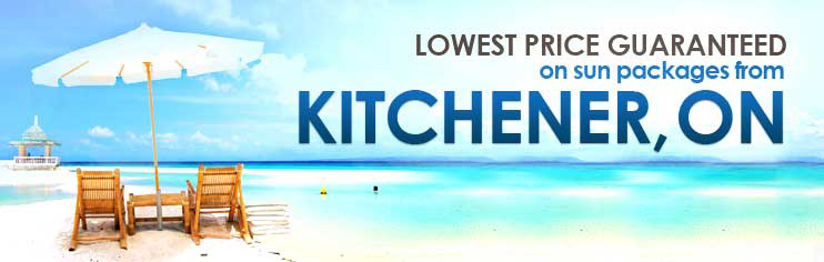 Lowest price guaranteed on sun packages from Kitchener, ON