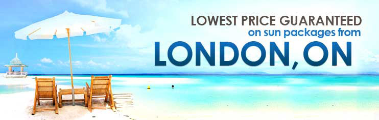 Lowest price guaranteed on sun packages from London, ON