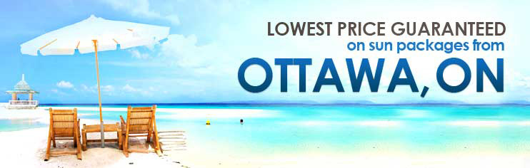 Lowest price guaranteed on sun packages from Ottawa, ON