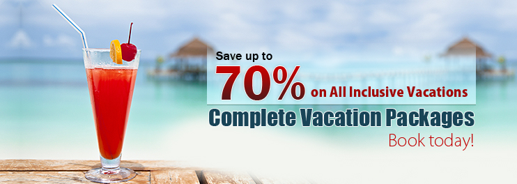 All-inclusive sell off vacations, 70% off banner