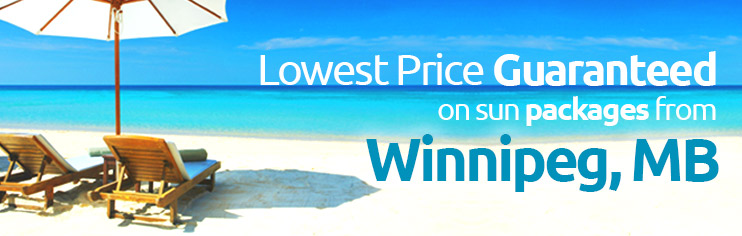 Lowest price guaranteed on sun packages from Winnipeg, MB