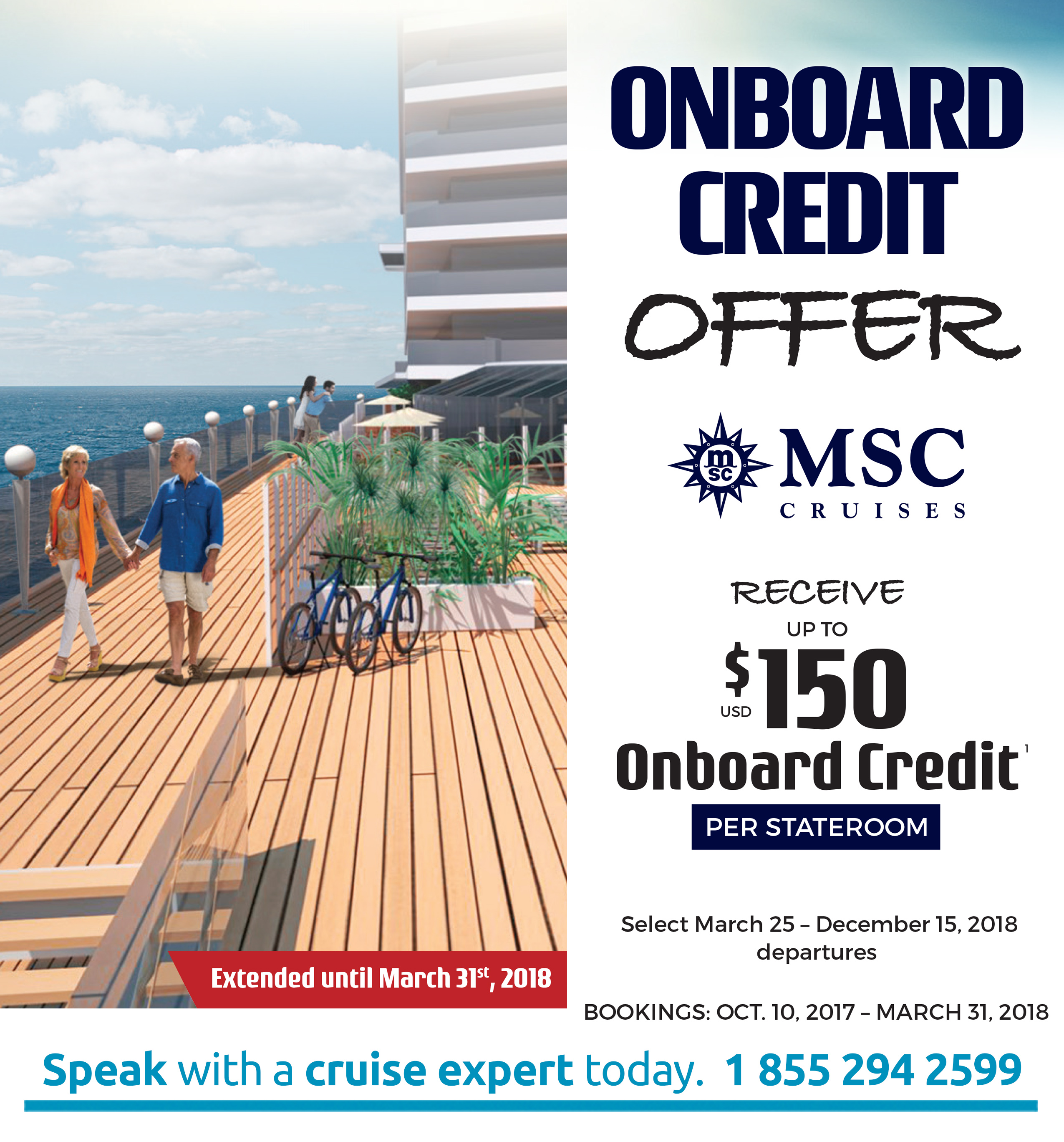 Cruise packages on the MSC Cruises