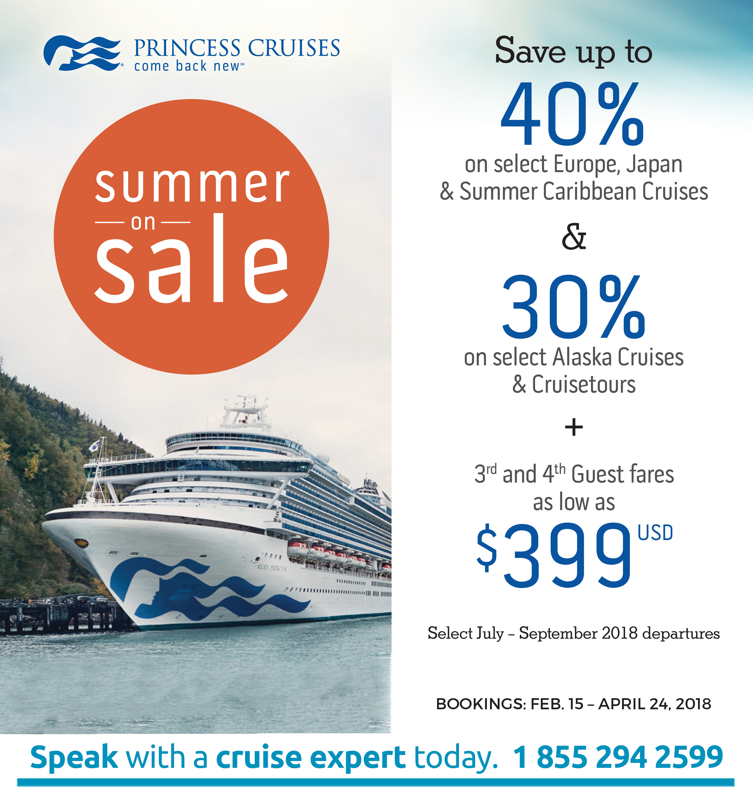 Cruise packages on the Princess Crises