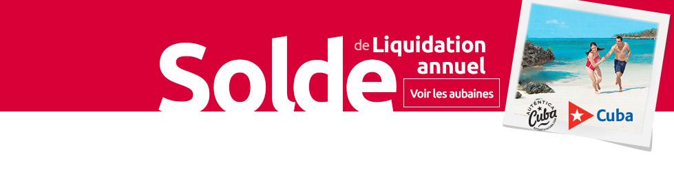 Liquidation – vacances de Cuba