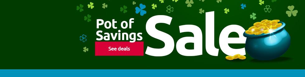 Pot of savings sale!