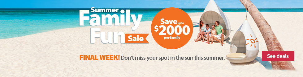 Family vacation sale!