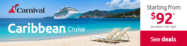 CARIBBEAN  Cruise: Starting from $92 pp per night*