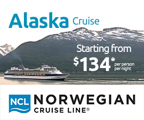 ALASKA  Cruise: Starting from $134 pp per night*