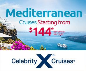 MEDITERRANAN  Cruise: Starting from $144 pp per night*