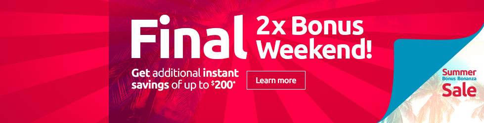Final 2x bonus weekend
