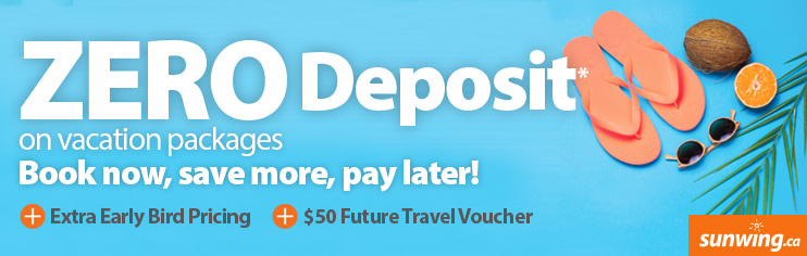 Zero Deposit and $50 Future Travel Voucher