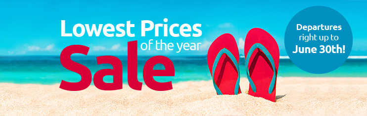 Lowest prices of the year sale